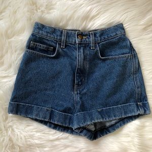 American Apparel | high waisted denim shorts